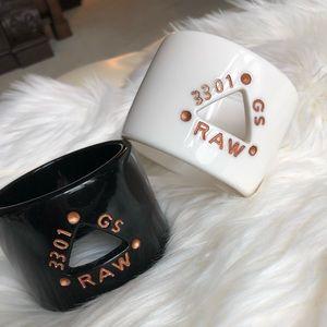 G-star enamel cuff bracelet
